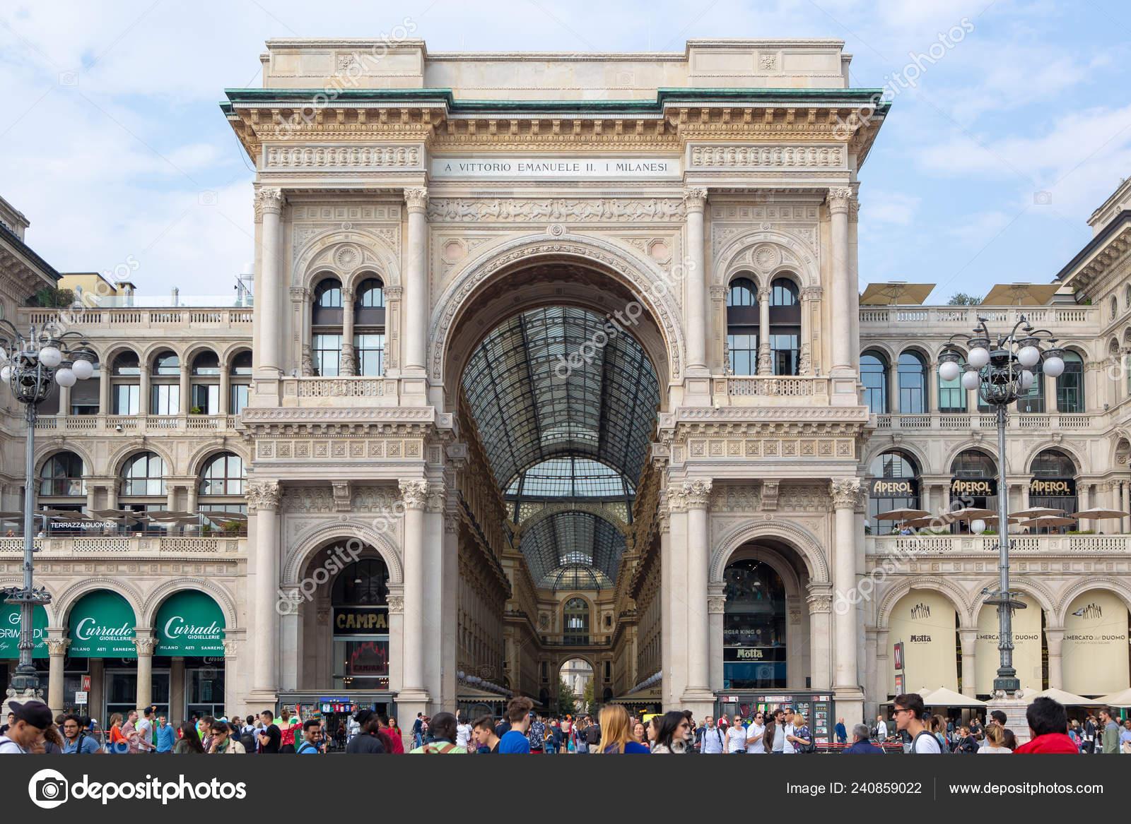 Milan Italy October 2018 Ancient Shopping Center Gallery Vittorio Emanuele Stock Editorial Photo C Hurricanehank 240859022
