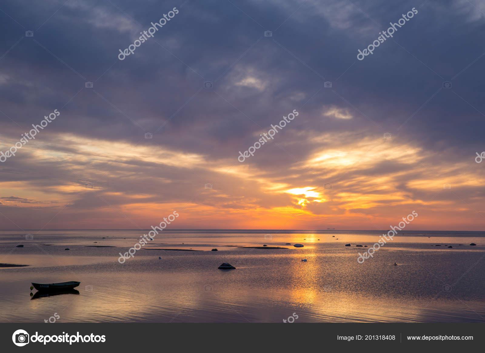 Mar Baltico Presto Mattina Alba Sul Mare Foto Stock Olga18x27