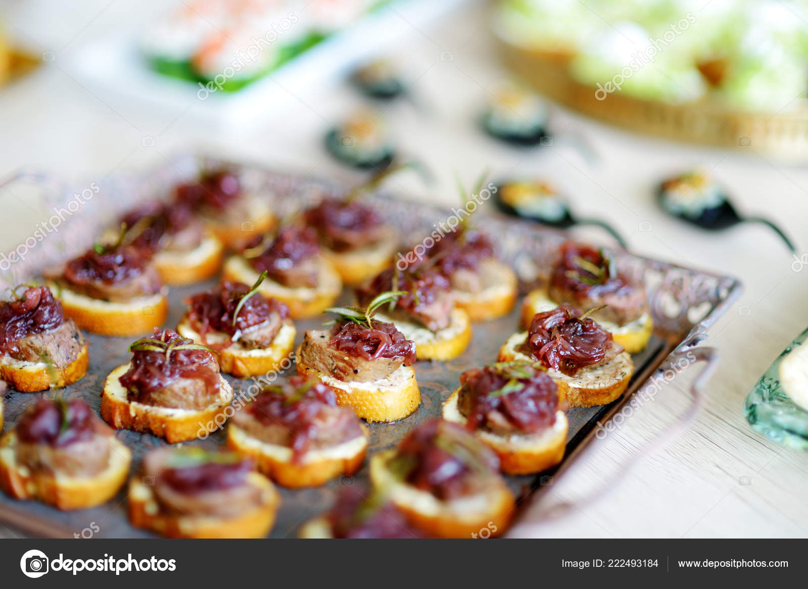 Delicious Pate Snacks Beet Topping Served Party Wedding