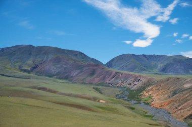 Mountain mongolian natural landscape
