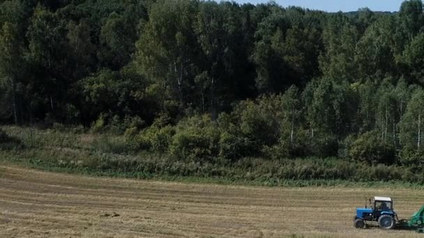 Tractor working on agro field