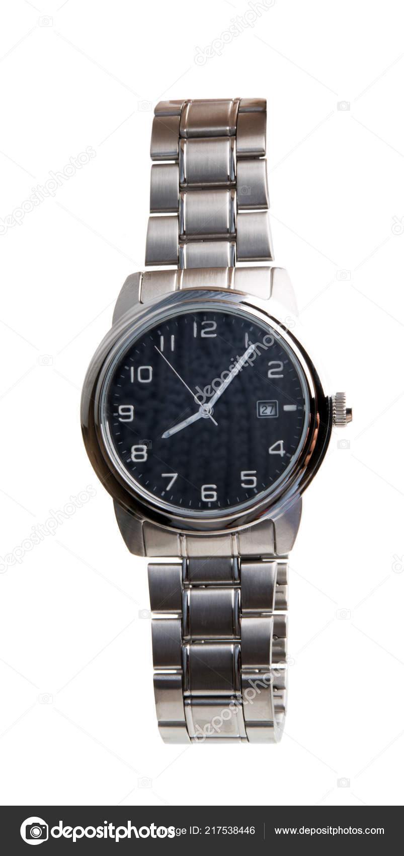 978c245425da Reloj Pulsera Los Hombres Aislado Sobre Fondo Blanco — Fotos de Stock