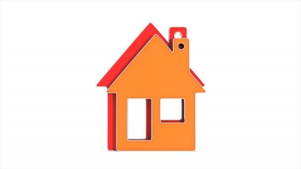 Haus und Energie sparen auf weißem Hintergrund. Isolierte 3D-Illustration