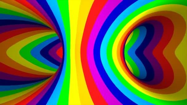 barevné pruhované tourus otvor. 3D obrázek