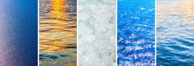 Water of seas and oceans - Set of HD 16:9 screen wallpapers for smartphone