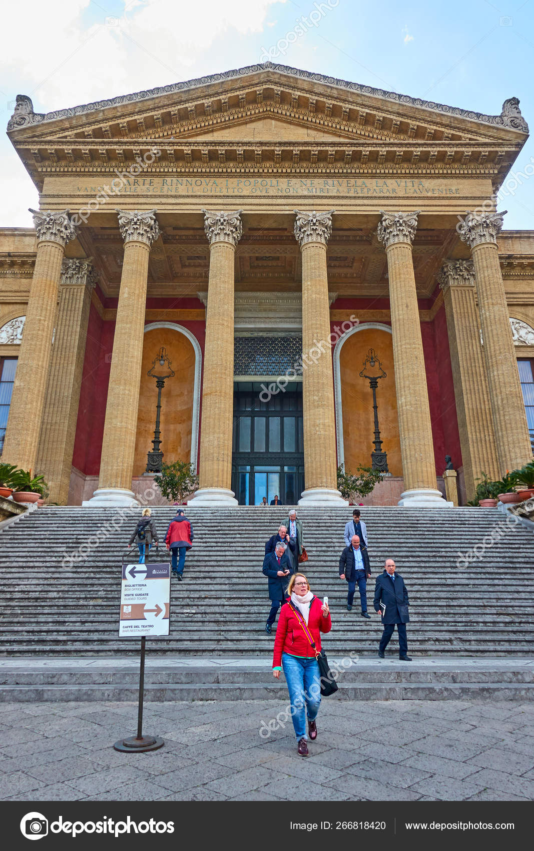 Palermo Opera House - Teatro Massimo – Stock Editorial Photo ...