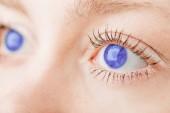 beautiful blue eyes, closer-up