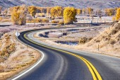 Fotografie winding highway in Colorado at autumn, USA