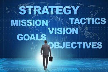 Businessman in strategic planning concept stock vector