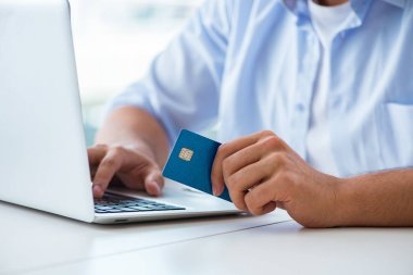 Concept on online payments with credit card