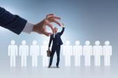 Náboru a koncept s vybraného zaměstnance