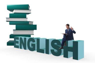 Businessman in english language training concept