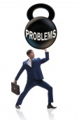 Photo Business problem and challenge concept with businessman