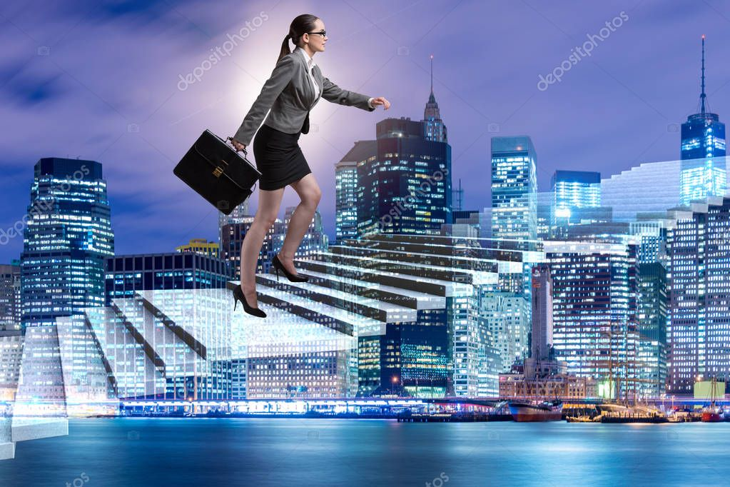 Businesswoman in ambition and determination concept