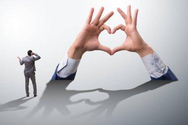 Hands showing heart gesture in love concept stock vector