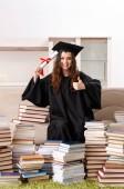 Fiatal női hallgatói a diploma