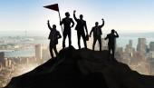 Unternehmer im Leistungs- und Teamwork-Konzept