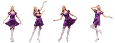 Beautiful dancer in purple dress
