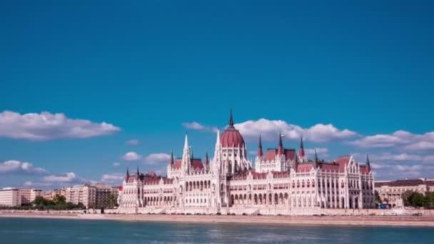 Magyar Országgyűlés, Budapest, Magyarország. TimeLapse