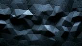 Trojúhelníkové krystalické pozadí abstraktní animace.