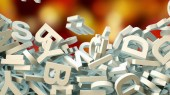 a lot of letters falling from the sky. Education and culture concept. 3d