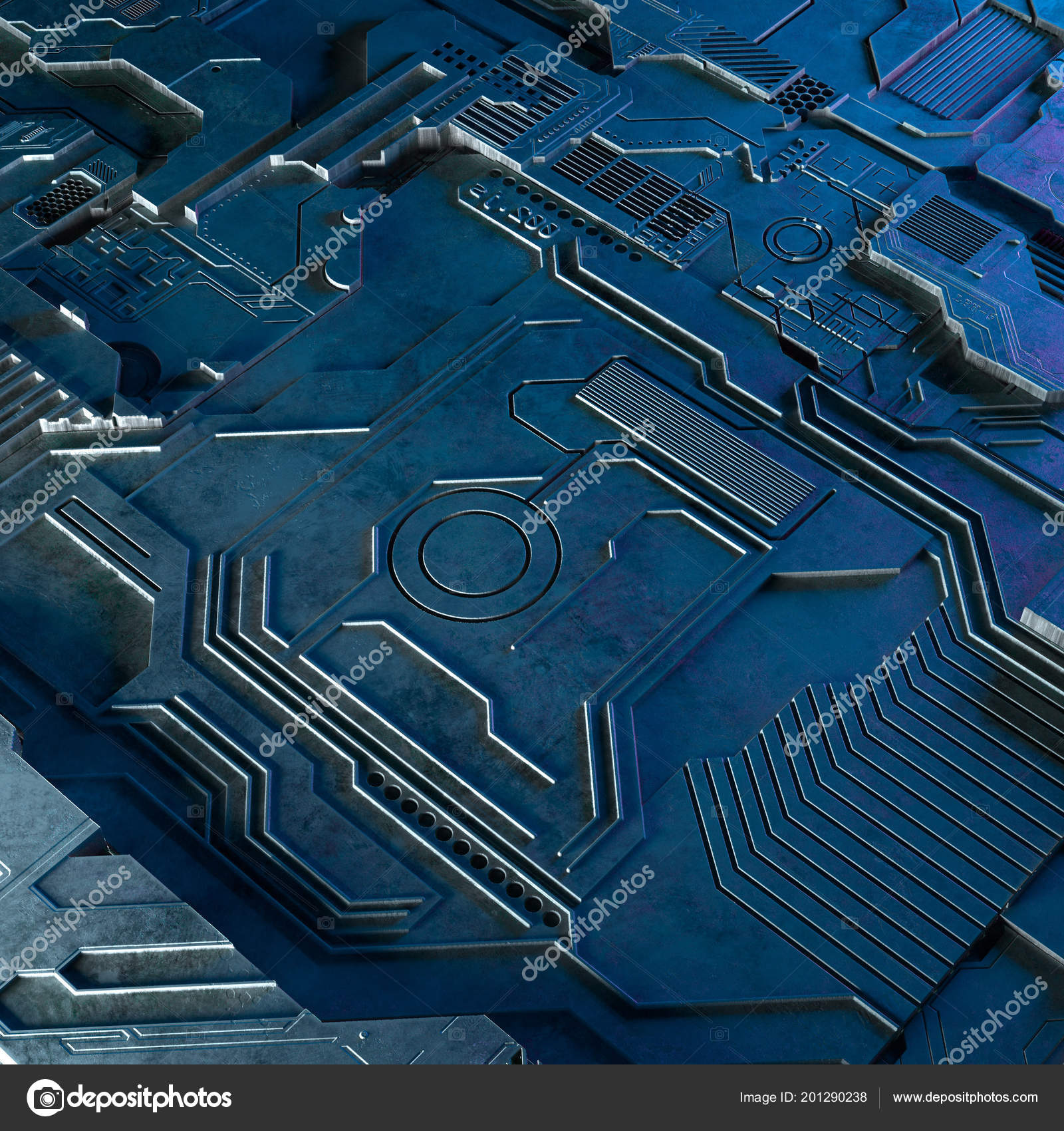 Abstract Technological Background Made Of Different Element Printed Pcb The Printedcircuitboard 3d Royalty Free Stock Photography Rendering Image Circuit Board And Flares