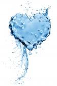 Fotografie Spritzwasser in Form eines Herzens