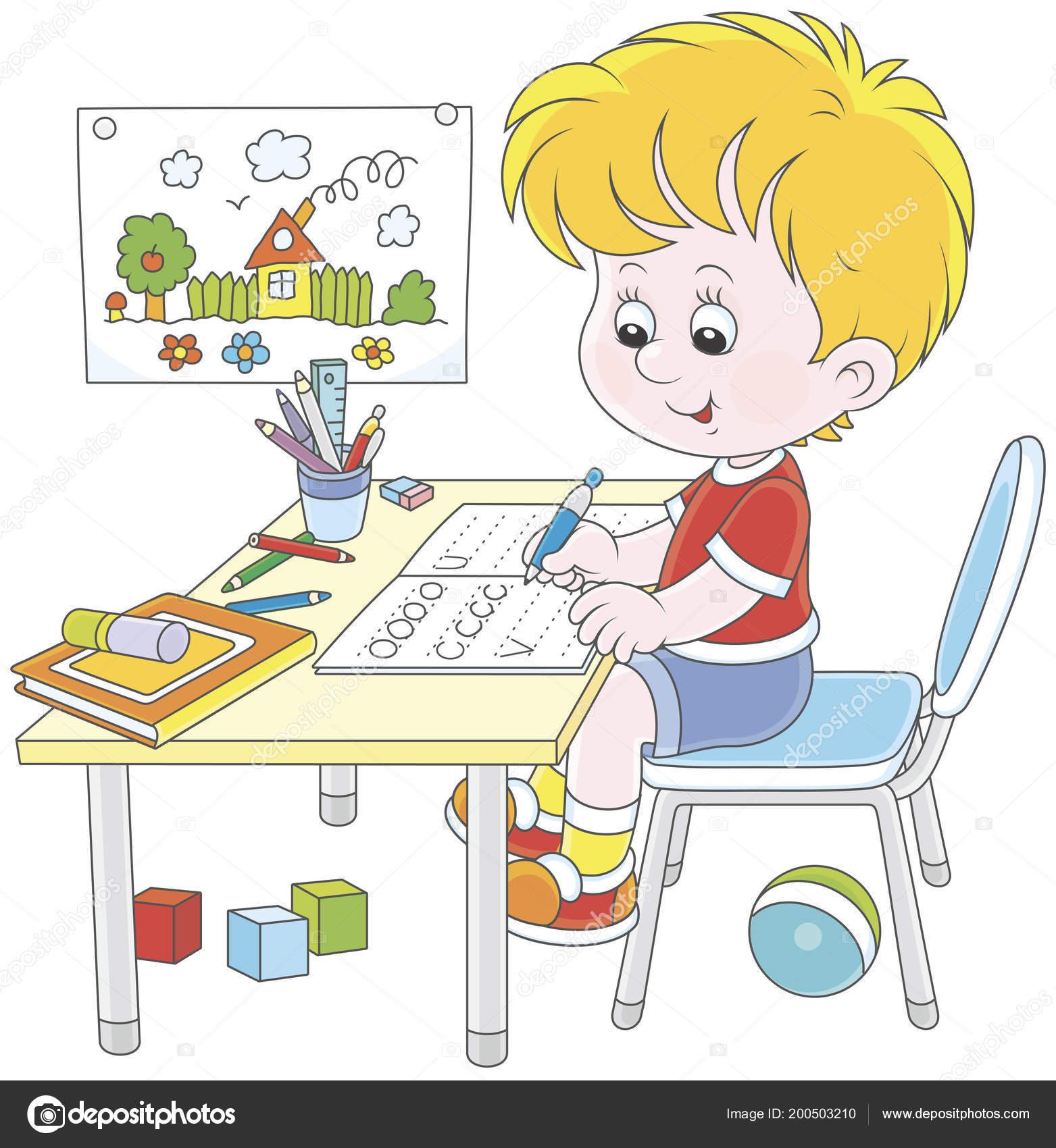 Imágenes: homework | Niño Haciendo Sus Deberes Cuaderno ...