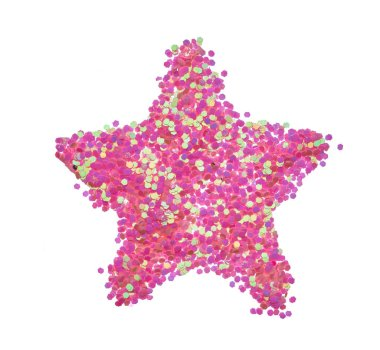 Bright and original multicolored background, in the form of a five-pointed stencil star