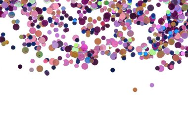 Bright and original polka background of multicolored dots