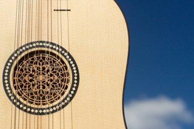Vihuela de mano of the 16th century. Close-up detail