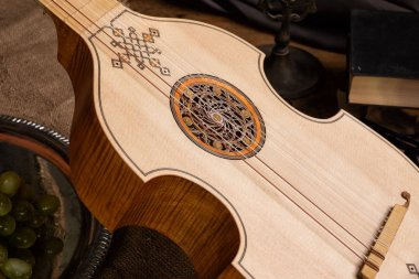 Musical still life in the Renaissance style with viola