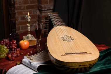 Musical still life in the Renaissance style with lut