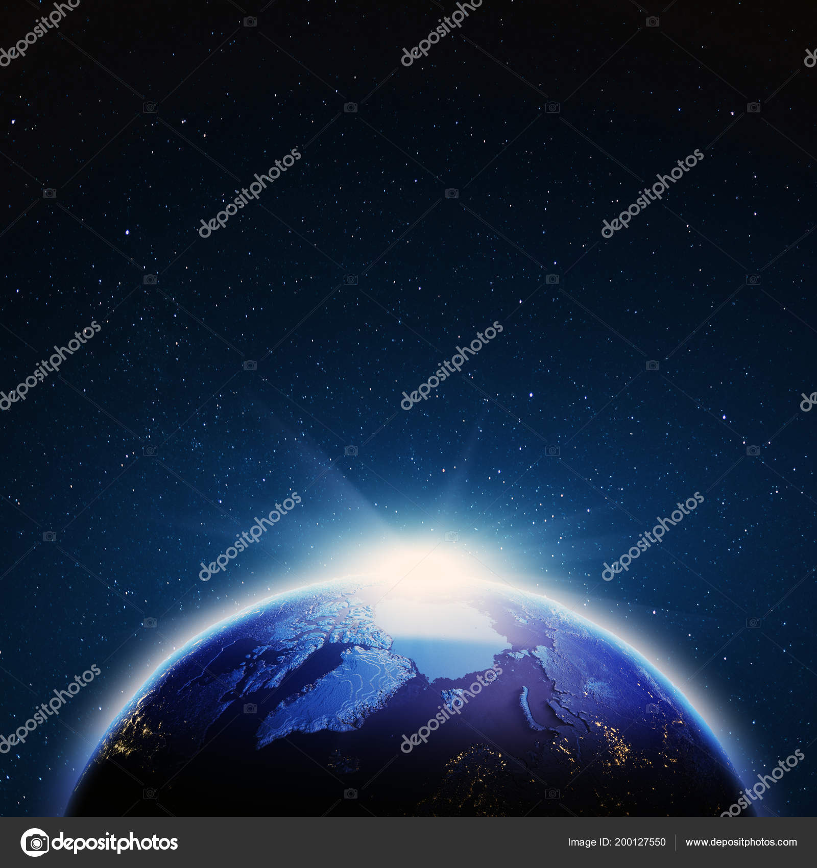 World Map Stars Own Photo Elements Image Furnished Nasa Rendering