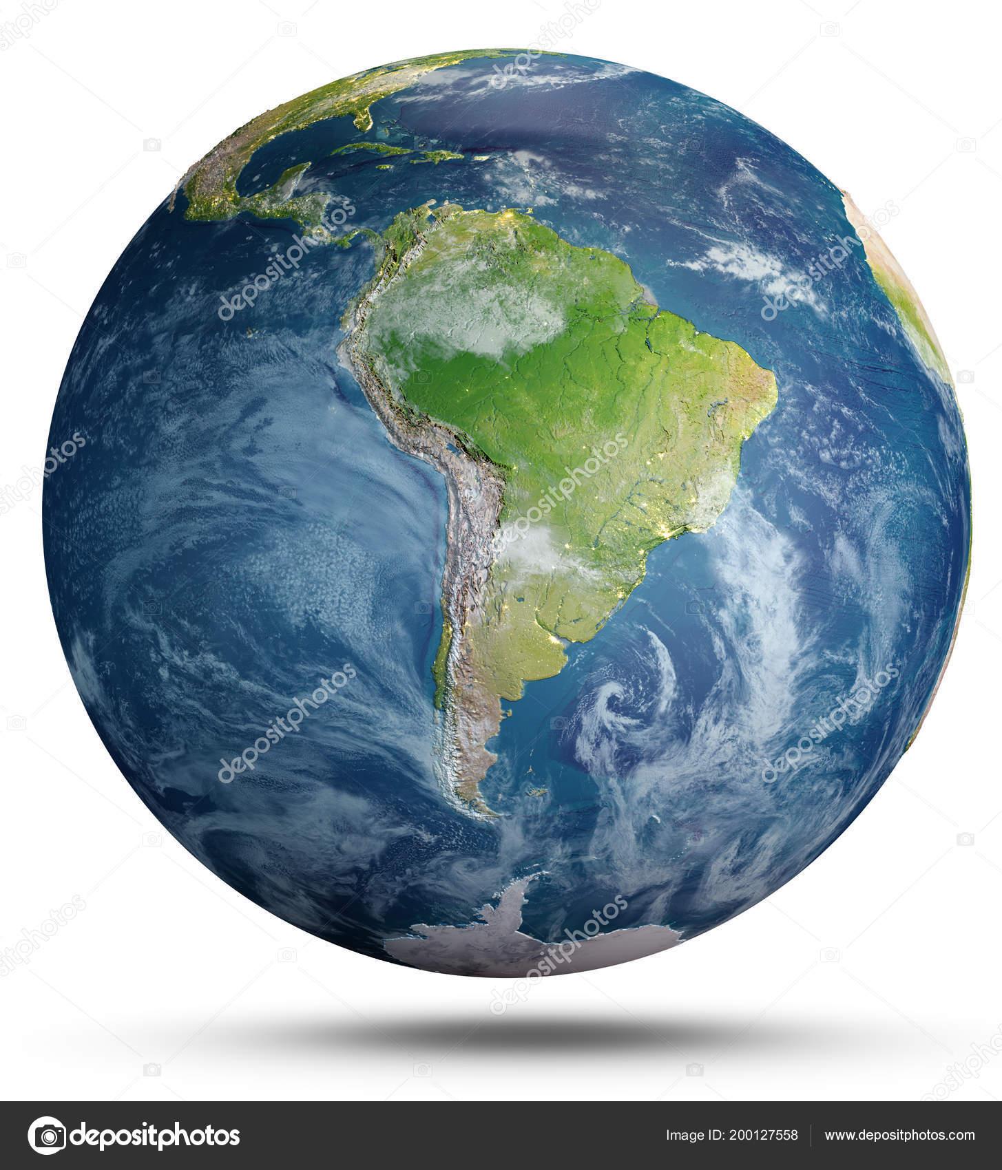 Planeta Tierra Sobre Fondo Blanco Elementos Esta Imagen