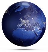 Planeta země z vesmíru. Prvky tohoto obrazu, které Nasa. 3D vykreslování