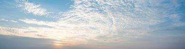 Tropical sky and clouds beautiful sunrise. Summer landscape