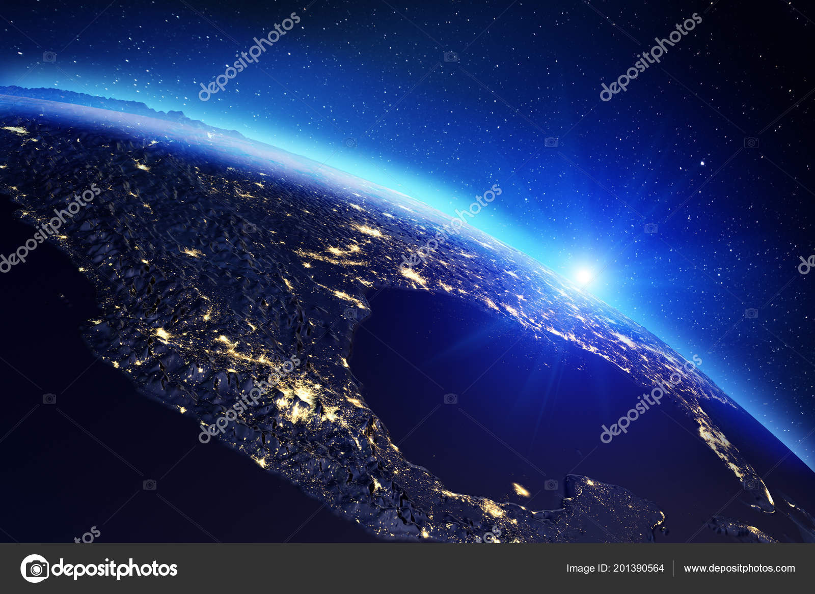 Planet Earth map  3d rendering — Stock Photo © 1xpert #201390564