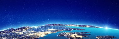 Planet Earth city lights