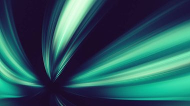 Green glow shine colors blur lines abstract background