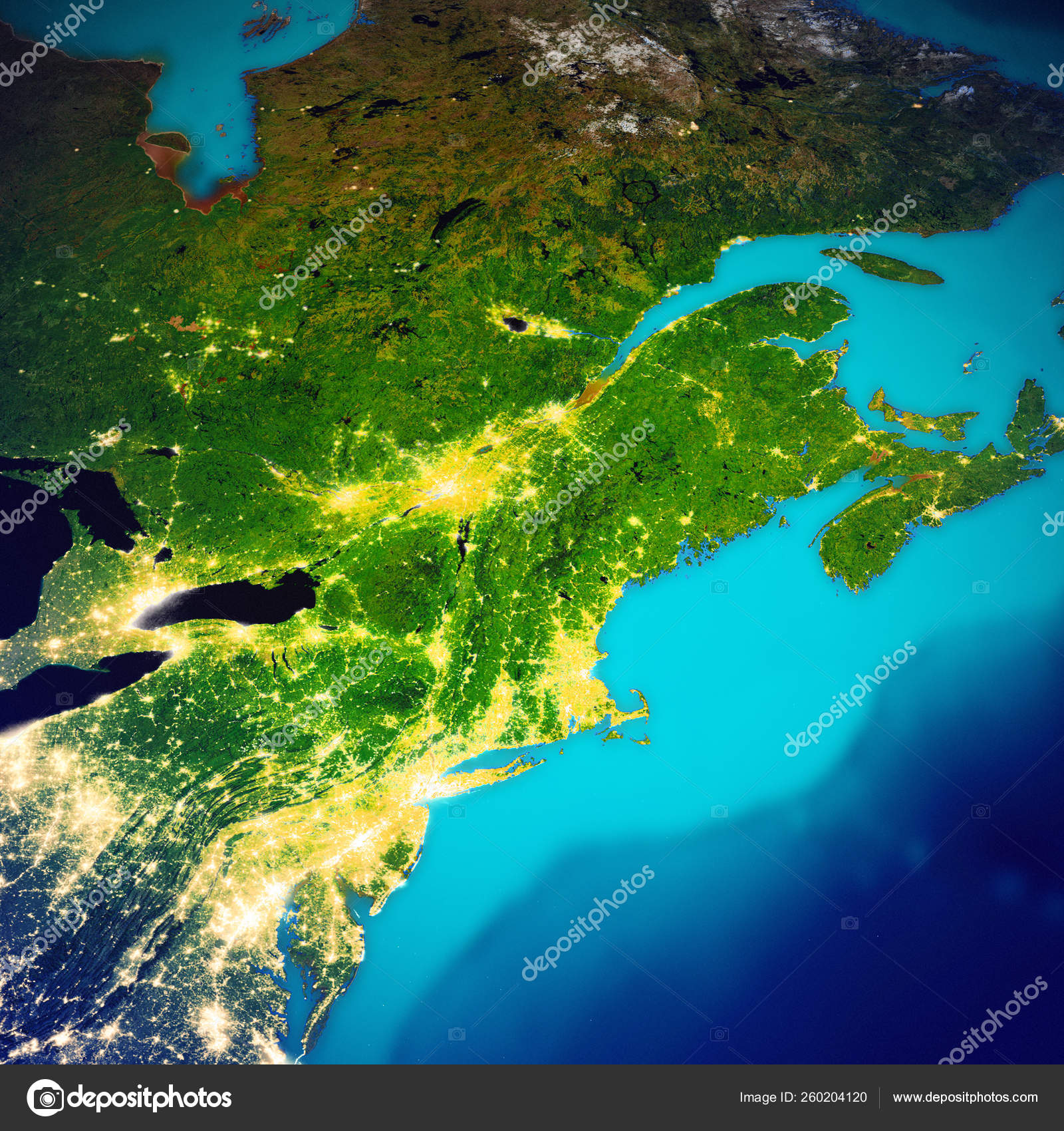 New England USA and Canada map — Stock Photo © 1xpert #260204120