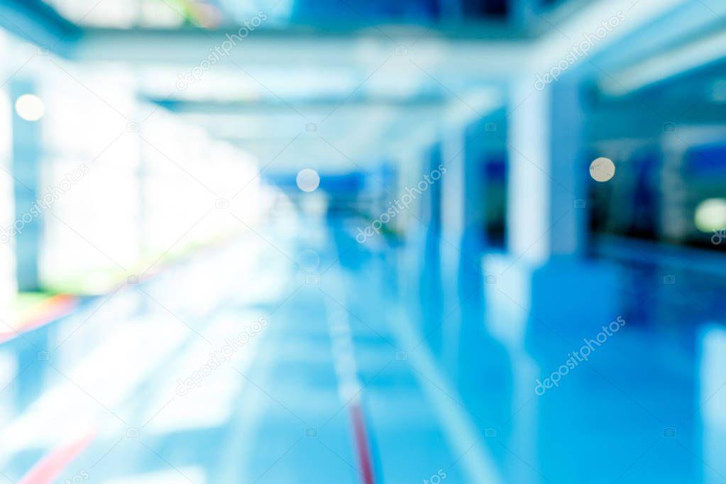 Blurred photo of swimming pool