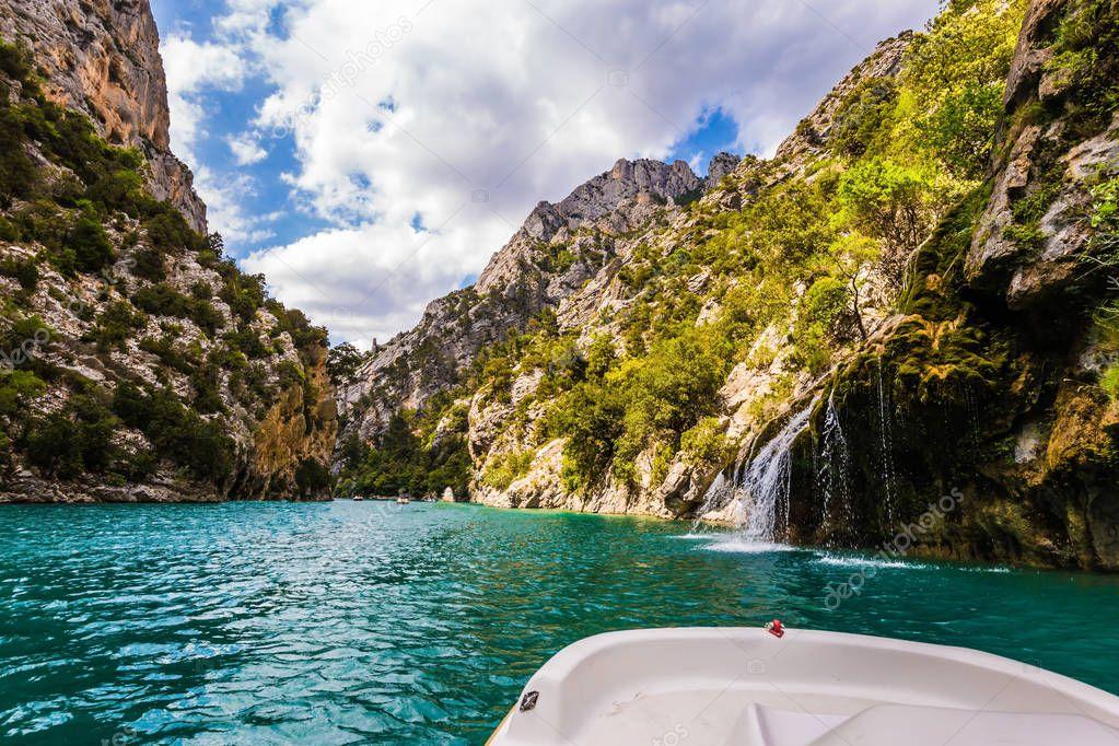 Picturesque Verdon Gorge in Mercantour Park, Provence Alps, France.