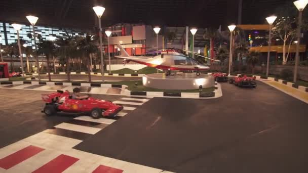 Junior GP Driving School in Ferrari World Abu Dhabi stock footage video