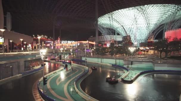 Karting Akademy in Ferrari World Abu Dhabi stock footage video ...