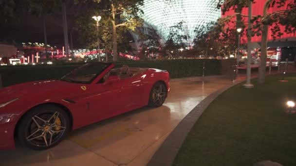 Exhibition car in a theme park Ferrari World Abu Dhabi stock footage video