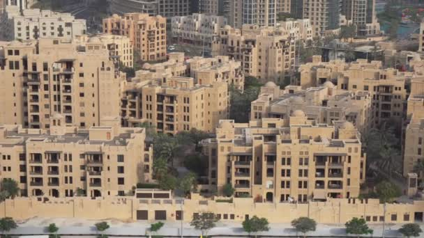 Downtown Dubai at dawn stock footage video