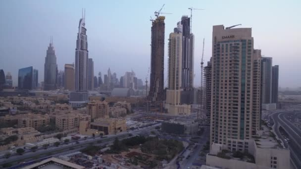 Downtown Dubai at dawn stock footage video