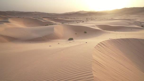 Krásná poušť Rub al Kali na sunrise stopáže videa