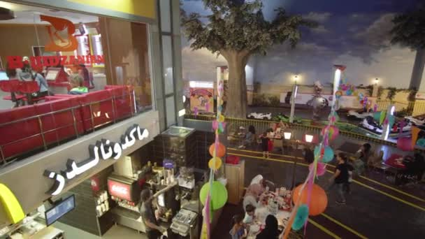 KidZania Dubai provides children and their parents a safe and very realistic educational environment at Dubai Mall stock footage video